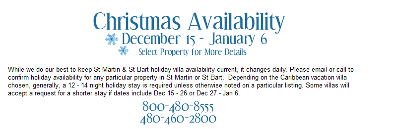 Christmas Availability